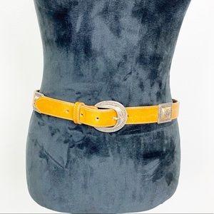 Brighton Leather Belt Tan Cognac Western Vintage